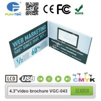 CMYK Print LCD brochures with video embedded inside extend consumer engagement VGC-043H