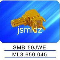 SMB male connector ,right angle,50ohm impedence,mounted on pcb thumbnail image