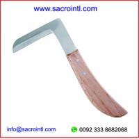 Hoof Knife L-Type Wood Handle thumbnail image