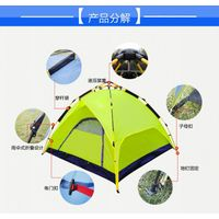 3-4 outdoor tent more than double air defense storm double double door speed automatic tent camping