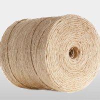 Sisal Yarn 300-1000 m/kg Sisal Twine Sisal Fiber Twist For Packing / Gardening / Steel Wire RopCore