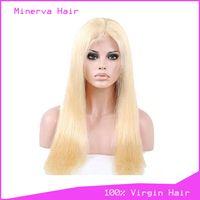Wholesale Human Hair lace wigs 613# straight thumbnail image