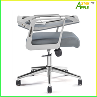 AS-B2101GY Backrest Foldable Swivel Chair Space Saving with Lumbar Support Wide Seat Comfortable Top