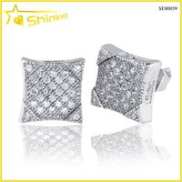 mens bling bling hip hop diamond earrings