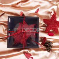 Shiny Red Hanging Star Vintage Gift thumbnail image