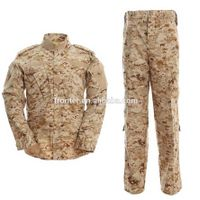 Army combat battle Dress Uniform in digital desert Camo Camouflage Military Uniform