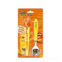 Kids correction chopsticks and spoon set-Larva