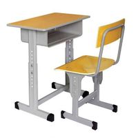 Single classroom Student Wooden Metal Desk and Chair Set