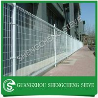 Rigidity welded wire mesh galvanized steel ornamental double loop wire fence