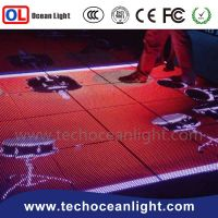 Waterproof interactive led dance floor for disco and nightclub