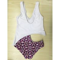 lady's digital print swimsuit ade of 80%polyester 20% spandex