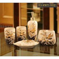L-D high-end luxurious ceramic bathroom accessories(Housewarming gift) ID:#WY-002