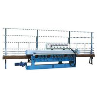 11 motor glass beveling machine with PLC control
