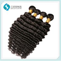 10a Grade Deep Wave Hair Weft curly hair extension for black women thumbnail image