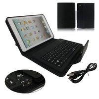 PU Leather Stand Case Cover w/ Remove Wireless Bluetooth Keyboard For iPad Mini