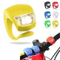 LED Bicycle frog lamp silicone lamp mountain bike double eyes beetle lamp riding decorative lamp tai