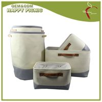 Canvas storage bag set