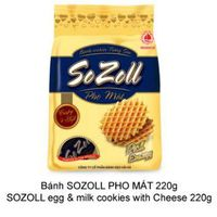 Sozoll eggs & milk cookies with cheese