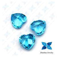wuzhou charming 8*8mm heart shape cubic zirconia price