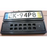 Europe size turn off flip changer license plate frame
