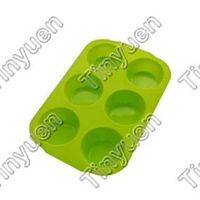 silicone cake mold - 6 cup muffin pan