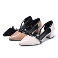 Brand New Spring & Summer Butterfly stylish Hollowing Women's Dress Shoes With Rough heels