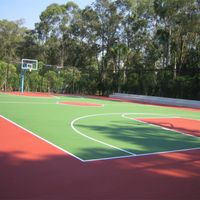 all weather use badminton court rubber floor