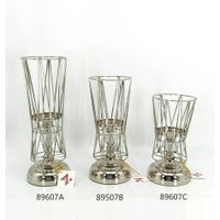 latest style transformable gold and black metal candle holder from china factory
