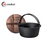 outdoor camping cookware cast iron cookware pot camping dutch oven thumbnail image