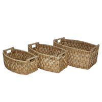 Water hyacinth basket for home decor and furniture - SD5867A-3NA