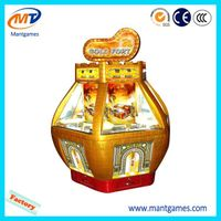 4 Players Golden Fort coin pusher game machine