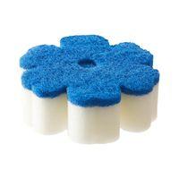 Flower shape Kitchen Cleaning Magic Eraser Sponge Household White Magic Sponge PU and Scouring Pad thumbnail image