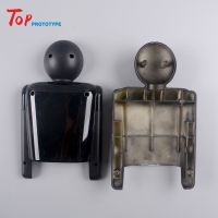 3D printing cnc machining plastic ABS black bake painting doll model prototype Service