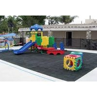 safe playground rubber floor for children