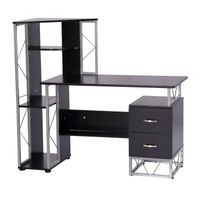 Modern Simple Designed Office Computer Desks Table Laptop Stand with bookcase