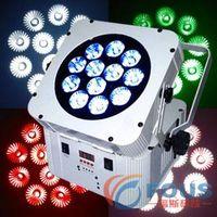 Stage Lighting / 12 10W Quad-LED Wireless Battery LED Flat Par / Par a LED