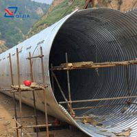 Assembly corrugated galvanized steel structure pipe