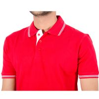 Premium Polo Neck Cotton T-shirt with Tipping