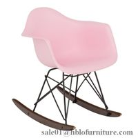eames children upholstered rocking chair,baby armrest rocking chair,diffel plastic rocking chair