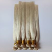 Blond Human hair Remy hair Straight 613# Europe and America hair extensions thumbnail image