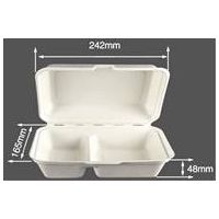 Disposable Bagasse Clamshell Biodegradable Food Packaging Supplier (1000ml Clamshell)