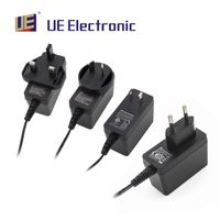 UE Electronic 12 watts medical adapter power adapter with interchangeable AC plugs