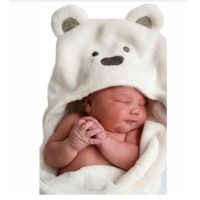 Lovely baby wool bath towel cute animal shape baby boy hooded towel coat baby blanket infant wrap wa