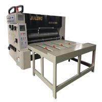 semi automatic Chain feeding flexo printer slotter rotary die cutter machine