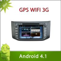 "8"" 2 din NISSAN SYLPHY android 4.1 car DVD with Radio,GPS,Ipod,Bluetooth,SWC,Wifi,PIP,3D UI"
