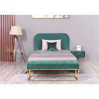 Modern Style Cloth Living Room Bed with Bed Bench Furniture thumbnail image