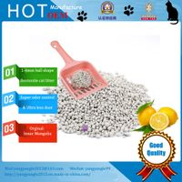 hot sell lemon scent bentonite cat litter