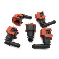 5pcs set of 7.89mm ID6 Fuel Line Hose Quick Release 135 degree Elbow Connector thumbnail image