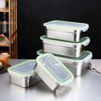 Large Capacity Airtight 304 Stainless Steel Lunch Box Food Storage Container With Lid