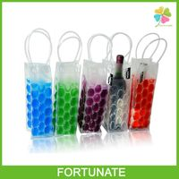 Wholesale Reusable Custom Gel Ice Pack PVC Liquid Wine Cooler Bag